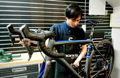 自転車の点検永年無料
